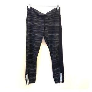 Lululemon Navy/white pants, 7/8 length, Size 8